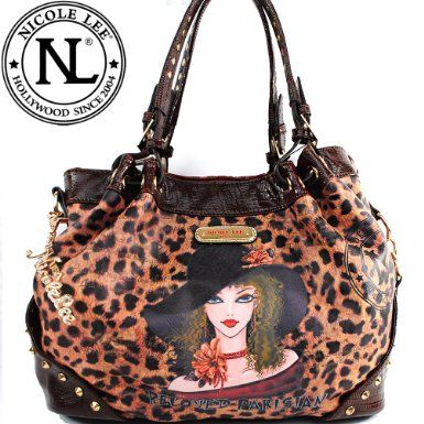 Click Here and Buy it On Amazon.com $59.99 Amazon.com: Nicole Lee Traviesa Print Hobo Bag Gitana Vintage Traviesa Print Round Rivet Spike Detailed Handbag Hollywood Celebrity Classic Vintage Illustrative Animal Print Croc Trim Drawstring Effect Tote Satchel Hobo Handbag Purse in Brown Leopard: Clothing