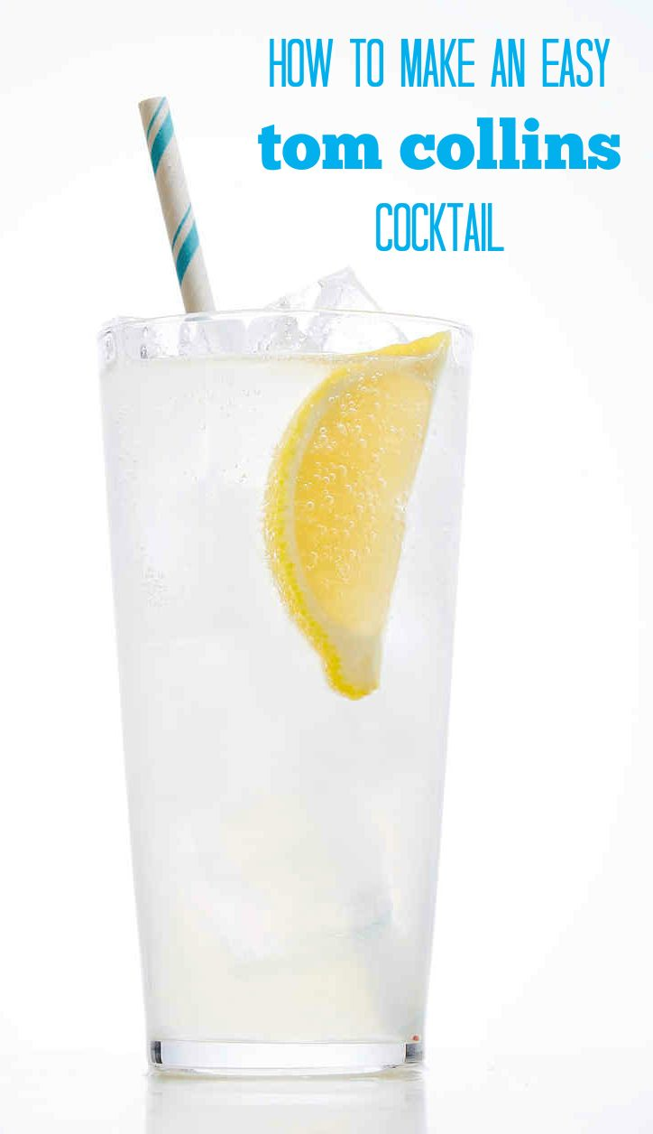 A classic Tom Collins cocktail is made with gin, lemon juice, simple syrup and seltzer. It tastes just like a grown-up lemonade!