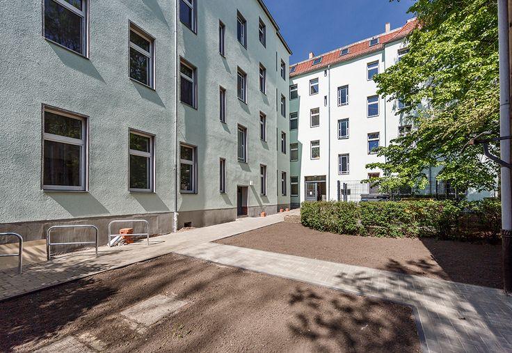 Das Objekt im ruhigen Köpenick hat eine gemeinschaftliche Remise mit Garten im Innenhof.