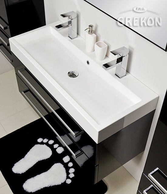 Białe / Umywalki / Umywalka dolomitowa LINDSEY 1000C/D podwójna biała GREKON.pl