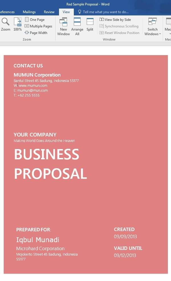 The specifications and the requirements of the. 19 Sample Free Word Proposal Templates Formats In Word Excel Pdf Business Proposal Business Proposal Template Business Proposal Examples