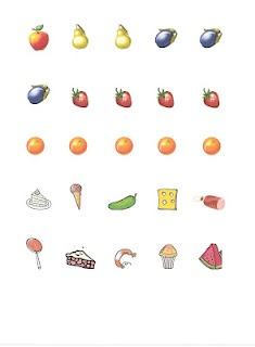 Free Printable of the food that the Very Hungry Caterpillar eats.