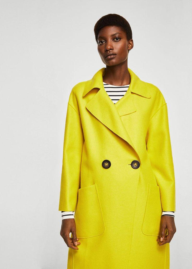 Manteau déstructuré en laine -  Femme | MANGO France