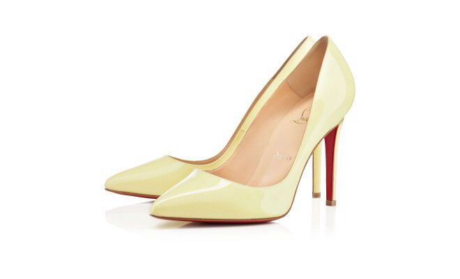 fba3892bb4b CHRISTIAN LOUBOUTIN Pigalle 100 Yellow Primevere Heels Pumps Shoes ...