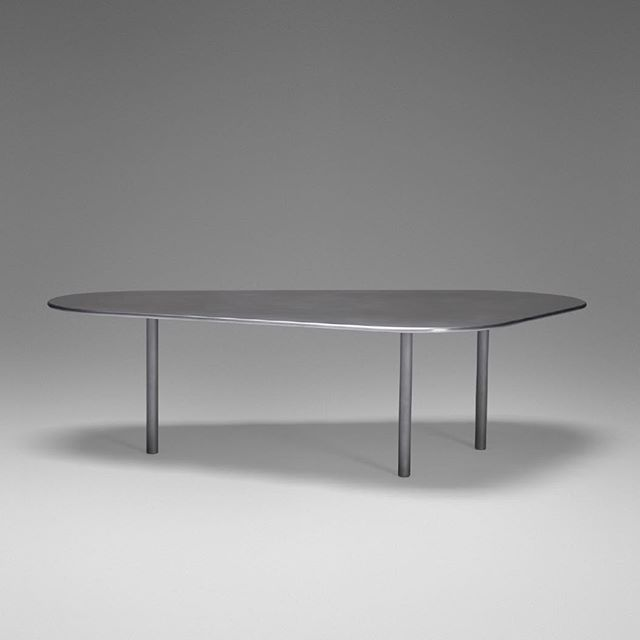 S C T Table In 1 2 Thick Solid Aluminum Plate With Milled Bullnose Edge And Milled Aluminum Legs W Schillerprojects Table Aluminum Table Furniture Designer
