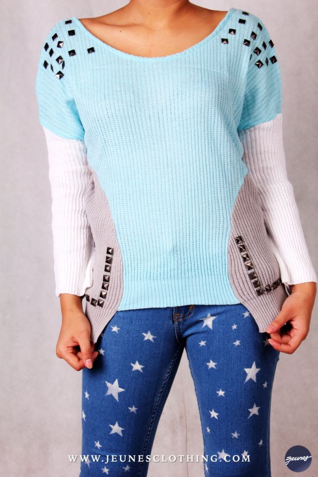 LADIES!  Article: Studded Knitwear Size: All Size Price: 220,000 idr  WWW.JEUNESCLOTHING.COM