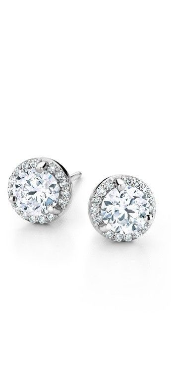 Halo diamond earrings are perfect for any occasion.