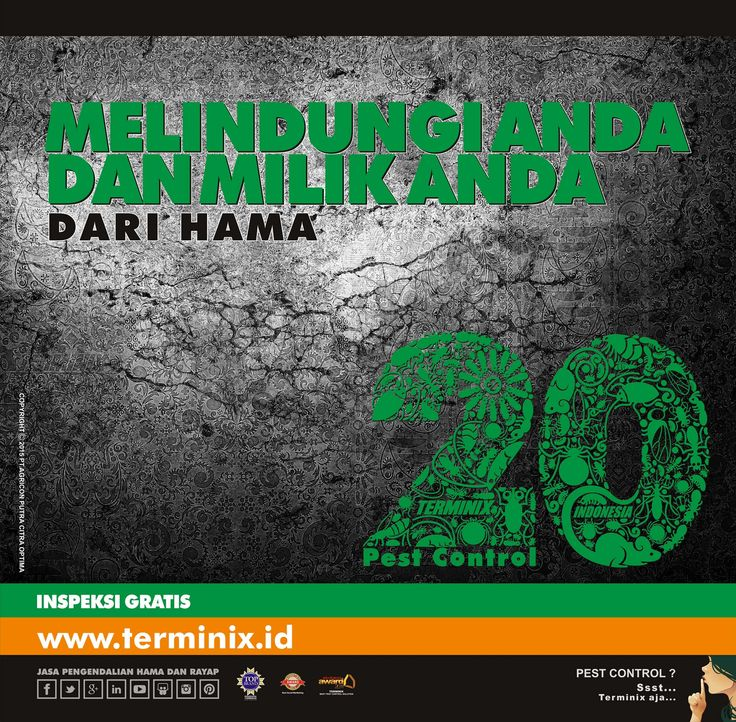 20 Tahun Melindungi Anda Dan Milik Anda Dari Hama
