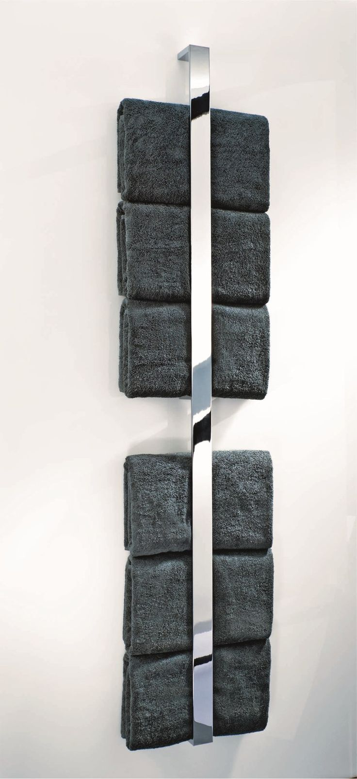 Chrome plated towel rack BK HL Brick Collection by DECOR WALTHER