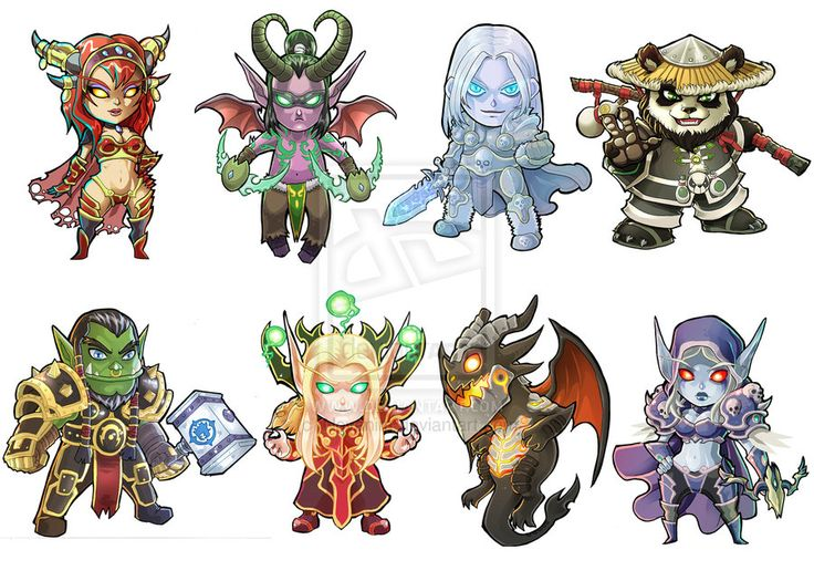 Warcraft Stickers by Novanim.deviantart.com