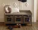 3 Drawer storage unit bench