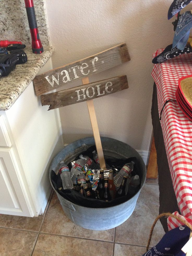 Cowboy birthday - cute idea for bottled water