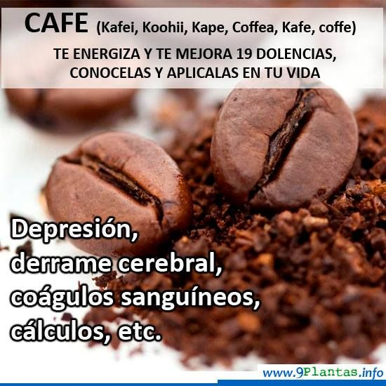 Cafe, cafeto, coffee (coffea arabica) | Propiedades naturales (sin azúcar)  __La cafeína es un estimulante del sistema nervioso central, a nivel psíquico y neuromuscular.  Mas recomendaciones naturales en la web...