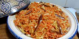 Recette orientale : salade de carottes, navets et dattes fraîches
