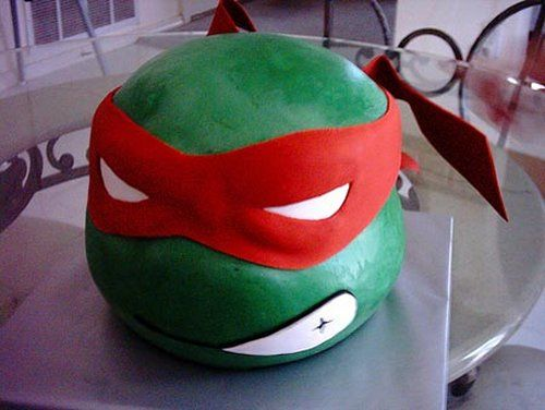 LOVE the Raphael cake. It wouldn't be that difficult to make, either. Also, a pizza party wouldn't be out of place AND it would be easy. Sigh.