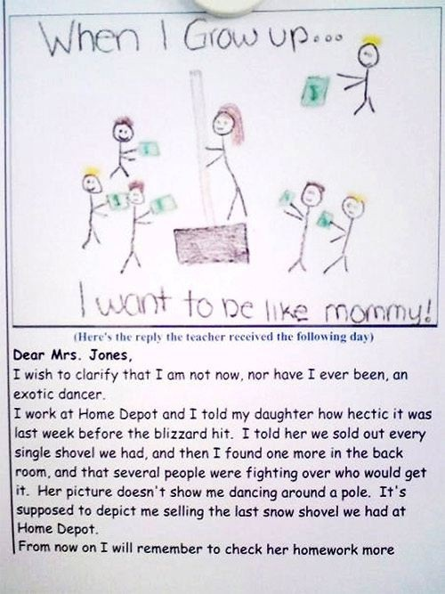 Funny kids drawing. Dear Lord, from now on, since I have 6 kids, please make sure I  always get a teacher with a sense of humor!