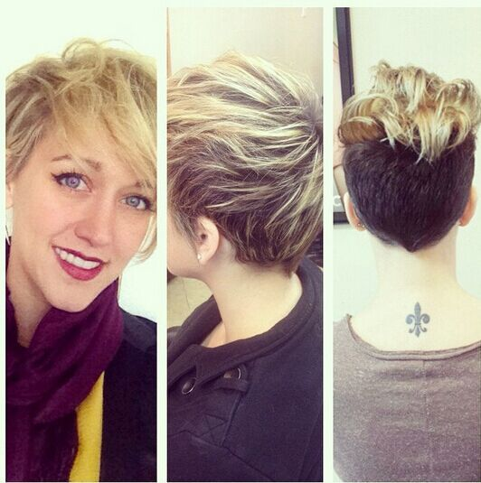 Messy Short Haircut with Side Bangs