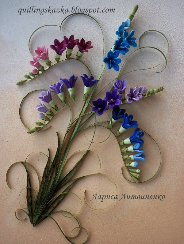 .pretty cute quilled flowers