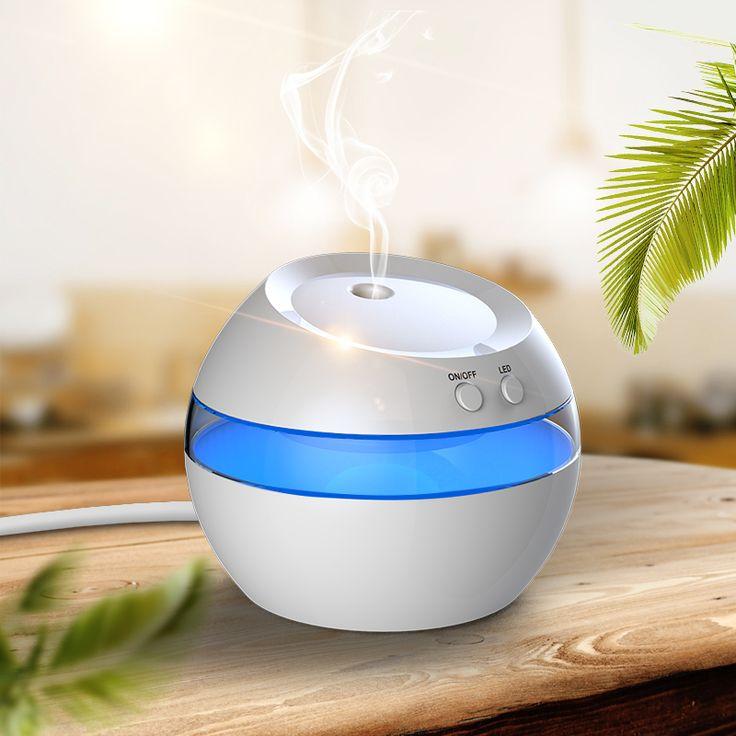 2016 New 300ML Night Light Air Ultrasonic Humidifier Oil Essential USB humidifier 12V Aroma Diffuser Mist Maker Fogger