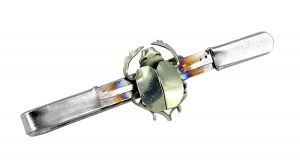 Beetle tie bar made from one piece of titanium - $220