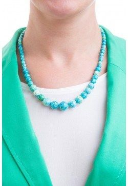 Type 1 Earthy Teal Necklace