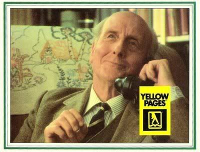 I don't suppose you have a copy of Fly Fishing by J.R. Hartley ... it is rather old. You do! Oh, that's wonderful! Er...can you keep it for me? ...  My name? Oh yes ... it's J.R. Hartley (I absolutely loved this advert!)