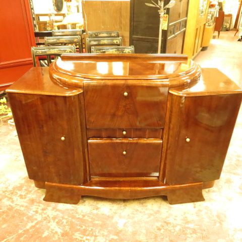 SOLD 890 Vintage Antique Walnut Art Deco Bar C 1920s 1930s By Stonehill Furniture This