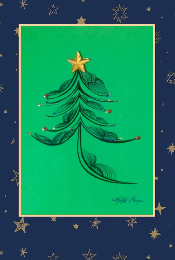 """""""Happy Holidays"""" #BlankGreetingCard #TreeDesign by #MelodyGermain of #MyEscapeArt #Canada"""