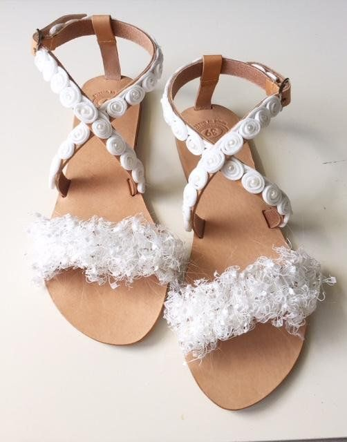 "Wedding Sandals ""Lily"", Handmade Leather Sandals, Bridal Sandals, Greek Sandals, FREE SHIPPING"