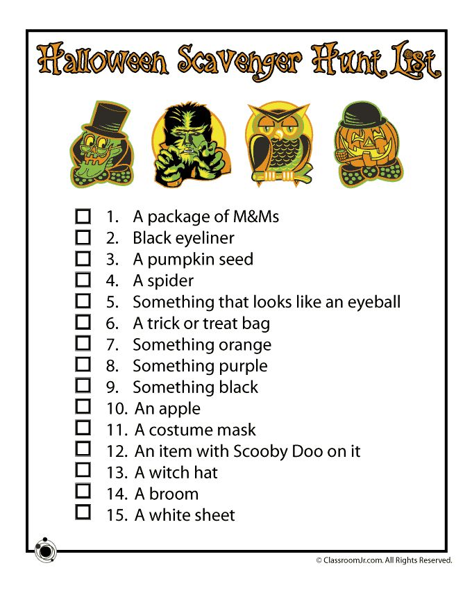 Best 25+ Halloween scavenger hunt ideas on Pinterest | Free ...
