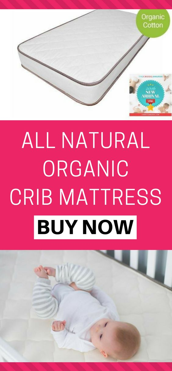 All Natural Organic Crib Mattress. Emily Natural Crib Mattress | Organic crib mattress |  Crib mattress for babies | Non-Toxic crib mattresses | comfortable baby mattress #cribmattress #afflink