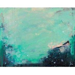 "Debajo del Mar (Underneath the Sea) - oil and mixed media on panel 24"" x 30"" $2200.00 Blue Gallery"