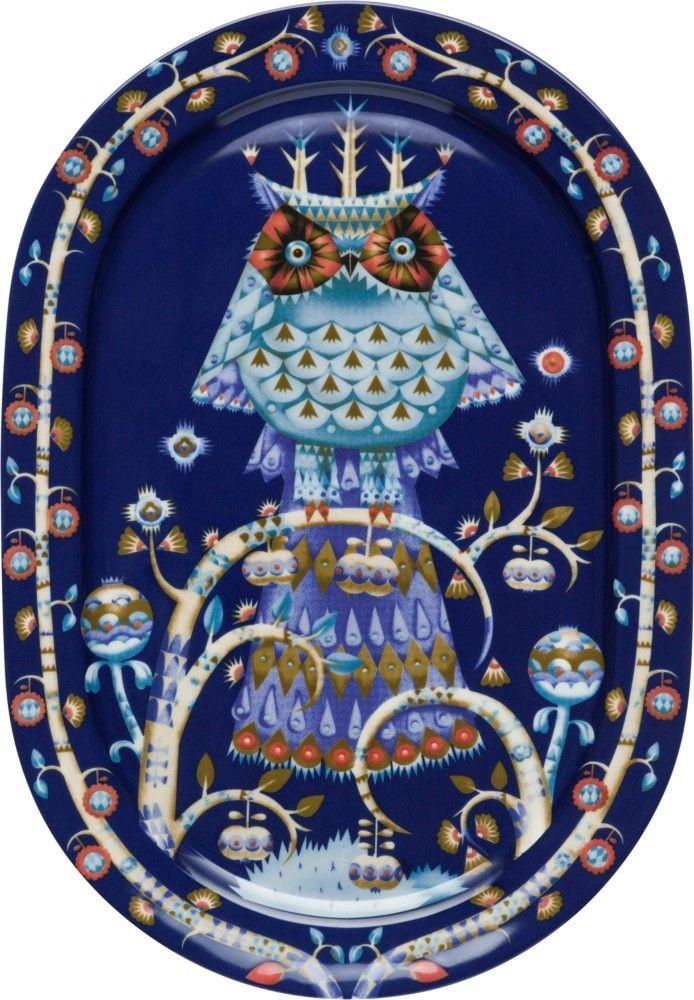 Iittala - Taika Serving plate 41 cm blue - Iittala.com