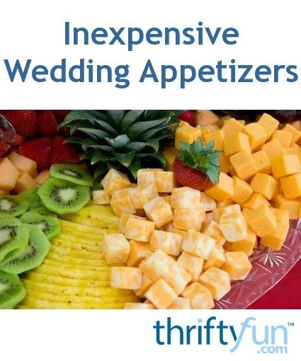Inexpensive Wedding Appetizers