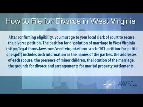 How to File For Divorce in West Virginia - 844-292-1318 West Virginia legal aid -    Visit: http://legal-forms.laws.com/west-virginia-forms/west-virginia-divorce-forms To download the How to File For Divorce in West Virginia Form in printable format and to know about the use of this form, who can use this Form How to File For Divorce in West Virginia Form and when  one should use this How to File For Divorce in West Virginia Form. To download various legal form visit: http://