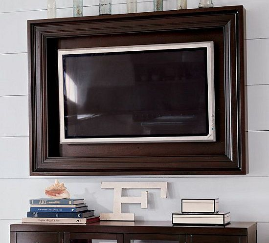 shadow box for wall hung tv | Placing the frame on a wall mounted piece / tv is in a shadow box ...