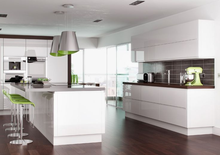 Ikea Kitchen White Gloss high gloss white handleless replacement kitchen doors and drawers