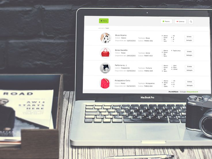 App Interface for a Shop Manager by Emiliano Cicero