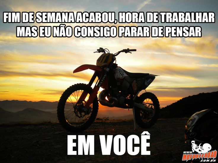 Pensamentos de Segunda! Chegou a segundona, mas nossos pensamentos continuam no Fim de Semana! Boa semana galera! #FeFocoForca #FFF #3F Acesse: www.motooffroad.com.br #motocross #mx #mxgirl #MotoOffRoad #freestyle #ride #goride #lifestyle #amotrilha #rider #motocrosslife #endurocross #enduro #mxlove #trilha #vidadetrilheiro #querotrilhar #amomoto #goodweak #TrabalhePesado #WorkHard