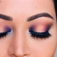 Dark purple on the inside and outside corners to add dimension to your eyeshadow look.