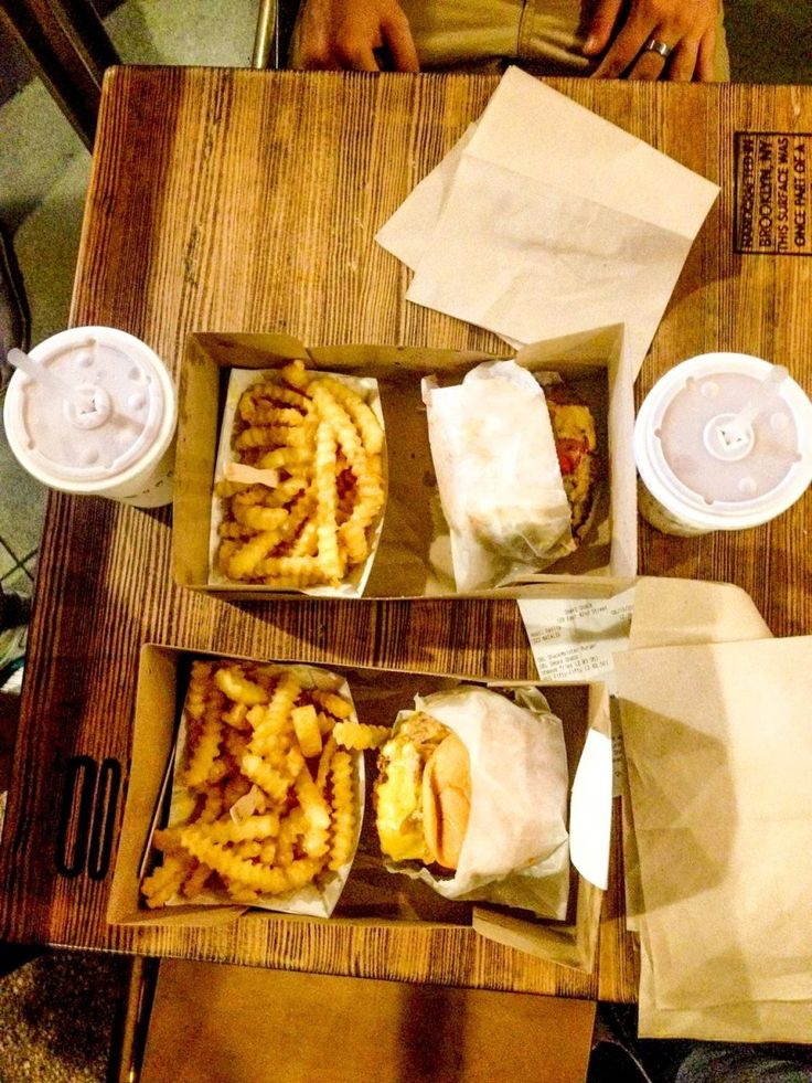 Nos burgers de chez Shake Shack - New York, Etats-Unis