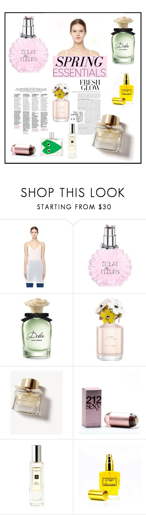 """""""In Bloom: Spring Perfume"""" by belldraw ❤ liked on Polyvore featuring beauty, Ann Demeulemeester, Lanvin, Dolce&Gabbana, Marc Jacobs, Burberry, Carolina Herrera, Jo Malone, Comme des Garçons and springperfume"""