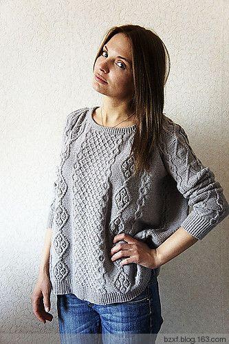 宽松版套衫 - 编织幸福 - 编织幸福的博客