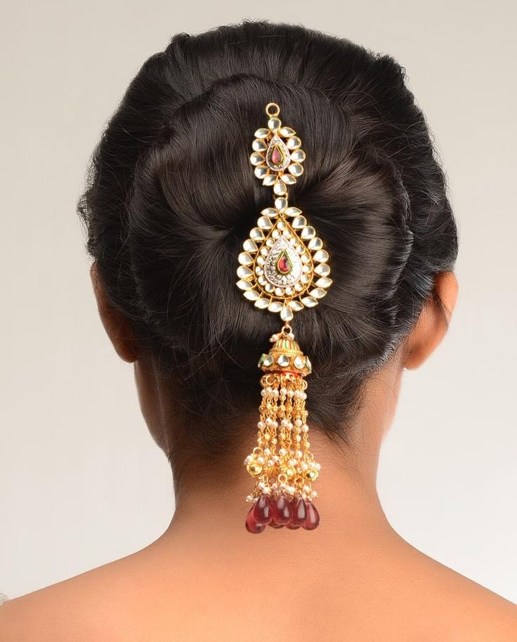Hema Kundan Hair Pin by Bansri Joaillerie