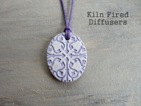 Yoga Aromatherapy Diffuser Pendant NECKLACE by KilnFiredDiffusers