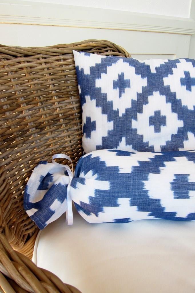 Boho Flair linen tissue, selfmade cushions