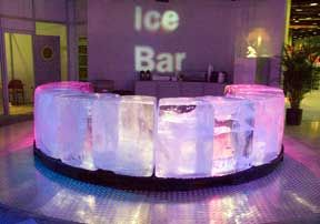 ice bar---this is so cool....I was at this Absolut bar in Sweden......once in a lifetime experience.