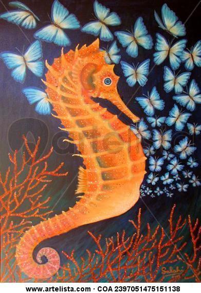 Parto de caballito de mar-iposas