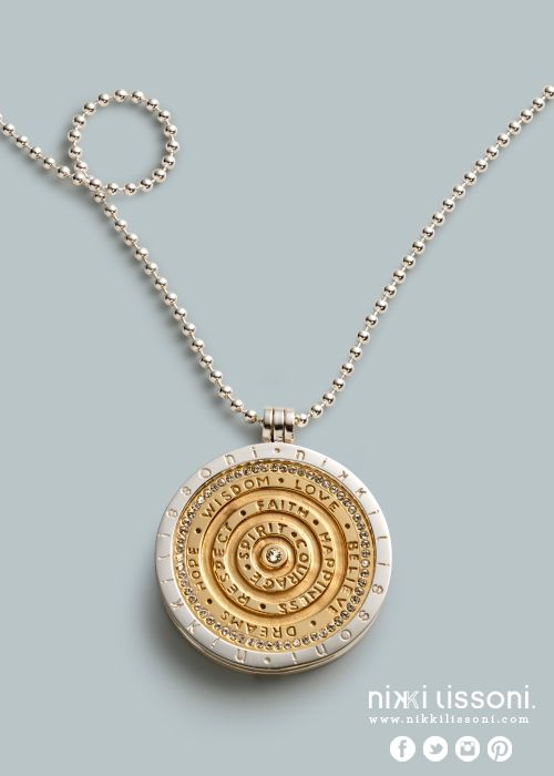 #NikkiLissoni necklace, pendant and coin (available at shop.nikkilissoni.com)