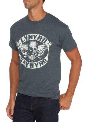 Live Nation Men's Short Sleeve Lynyrd Skynyrd Skull T Shirt - Charcoal Heather - Xl